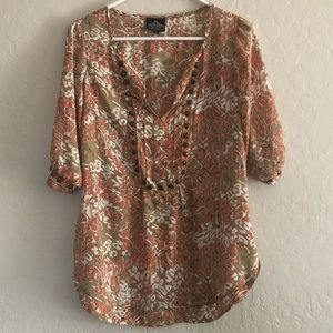 Angie Blouse with Brass Stud Detail